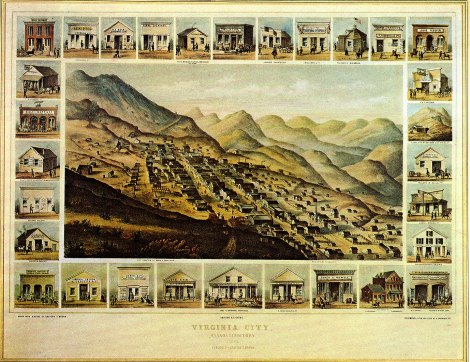 Virginia City, Nevada in 1861