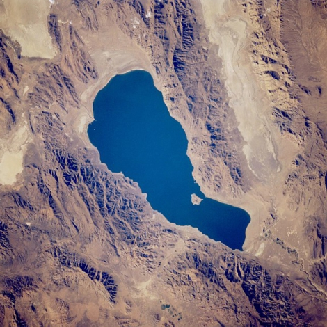 Satellite View of Pyramid Lake.